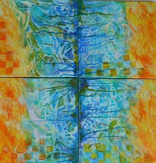 """Group Frottage"" original fine art by Gloria Urban"
