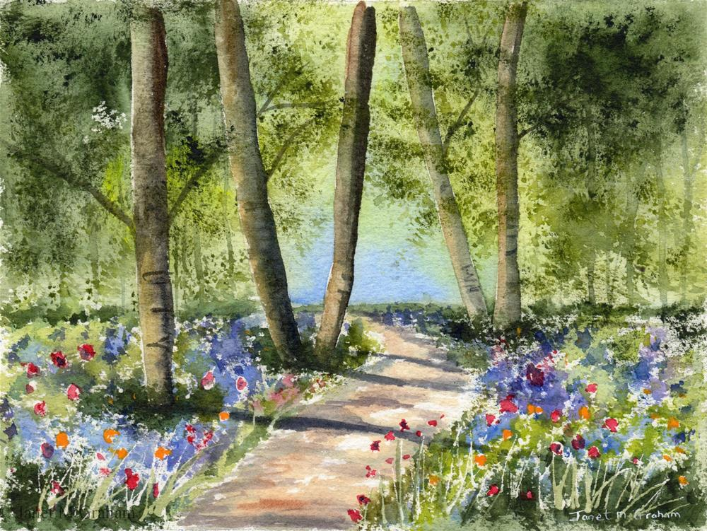 """Bluebell Path"" original fine art by Janet Graham"