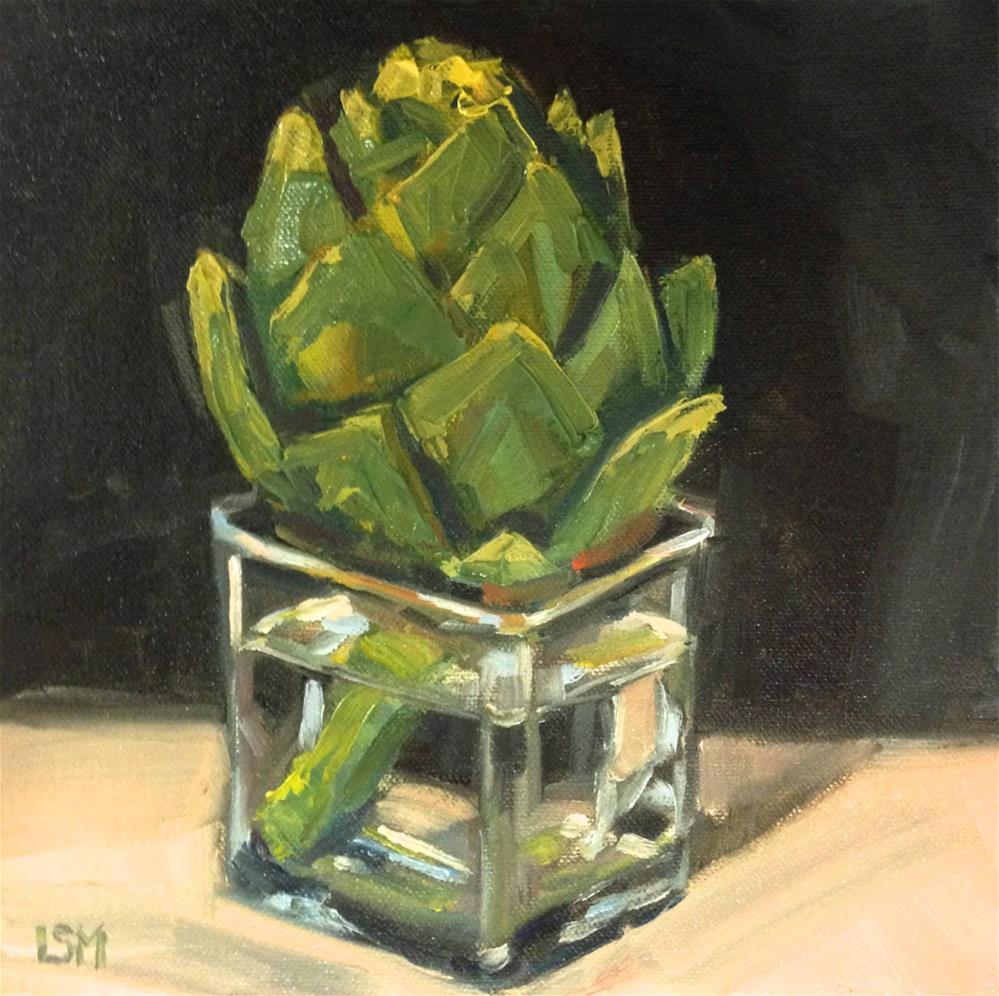"""Artichoke in Water"" original fine art by Linda Marino"