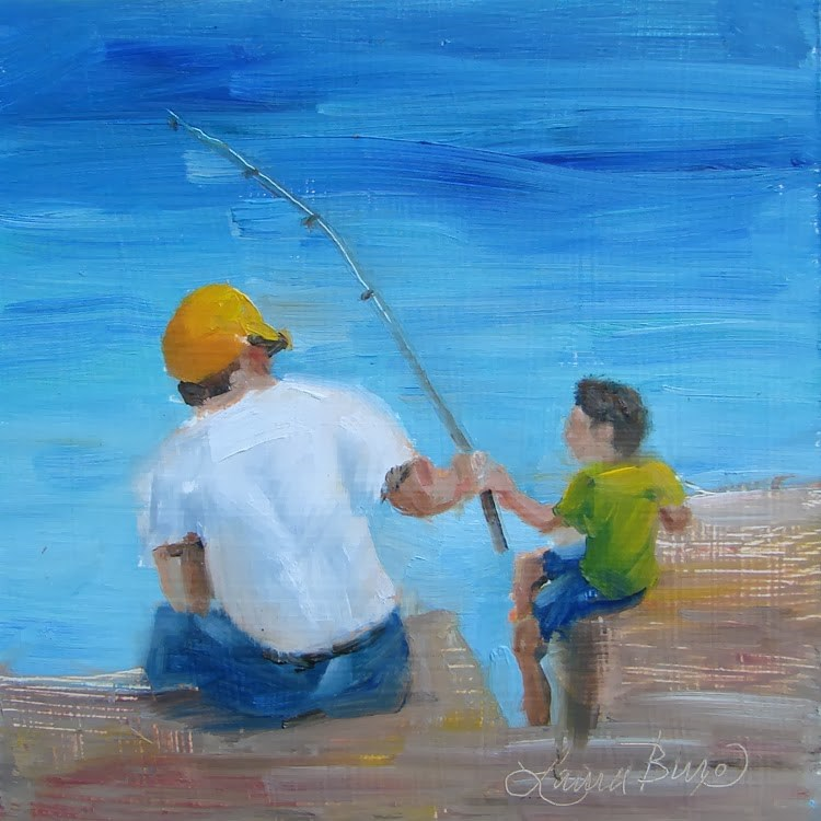 """Father's Day - 90"" original fine art by Laura  Buxo"