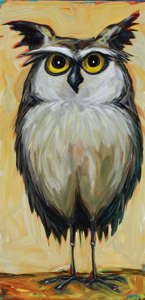 """Oswald"" original fine art by Kandice Keith"