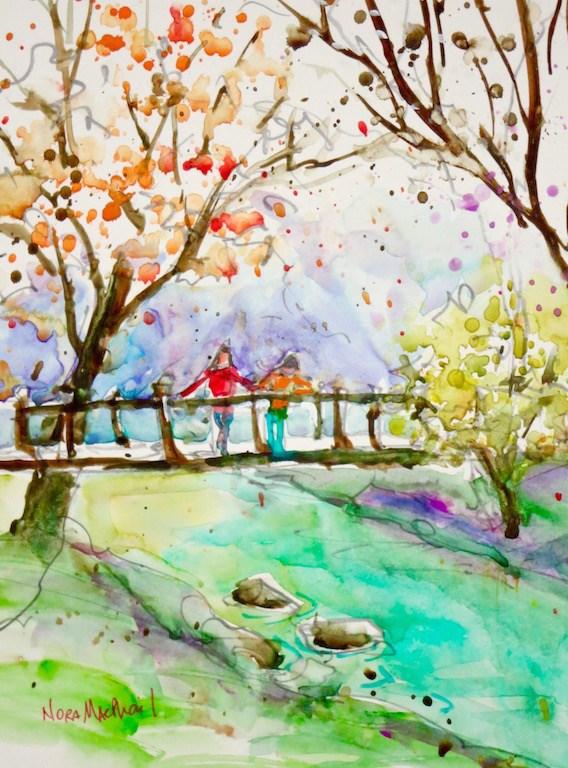 """nearing season's end"" original fine art by Nora MacPhail"