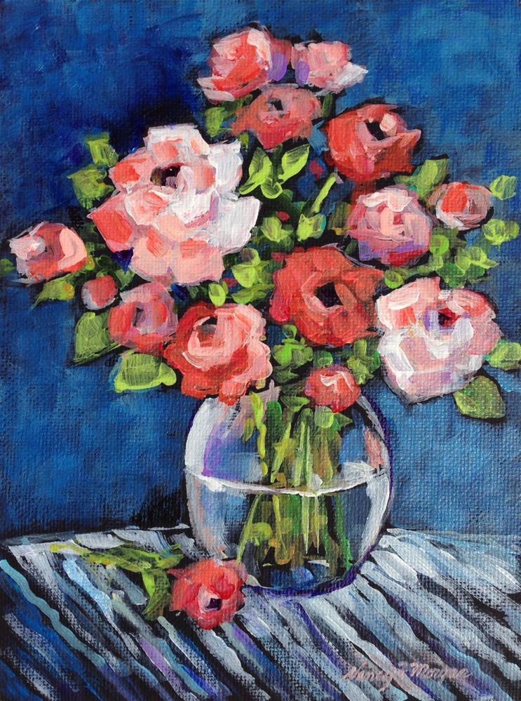 """Blue Velvet"" original fine art by Nancy F. Morgan"