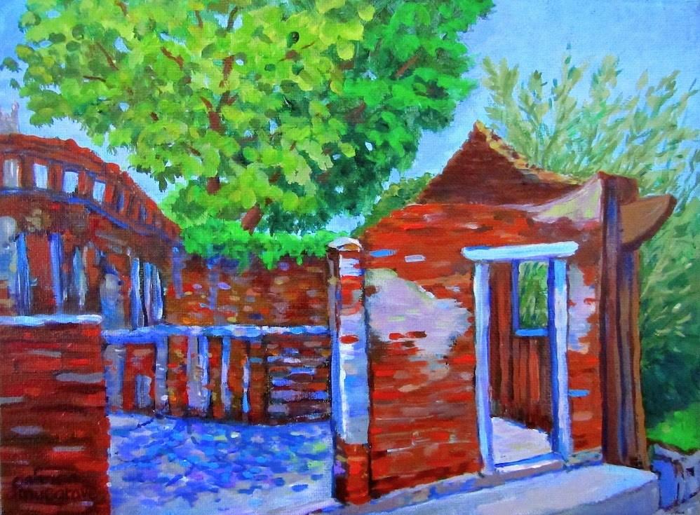 """Old House,  Shui Tou Village"" original fine art by Patricia Musgrave"