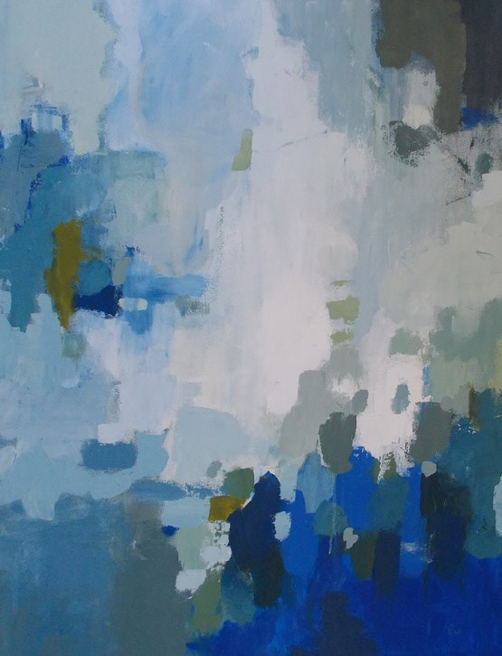 """Blue Cascade"" original fine art by Pamela Munger"