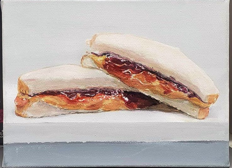 """Pbj  sandwich painting"" original fine art by Sunny Avocado"