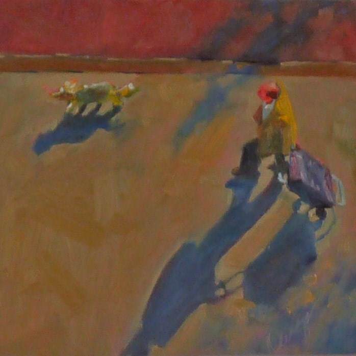 """""""Carry-On"""" original fine art by Sharman Owings"""