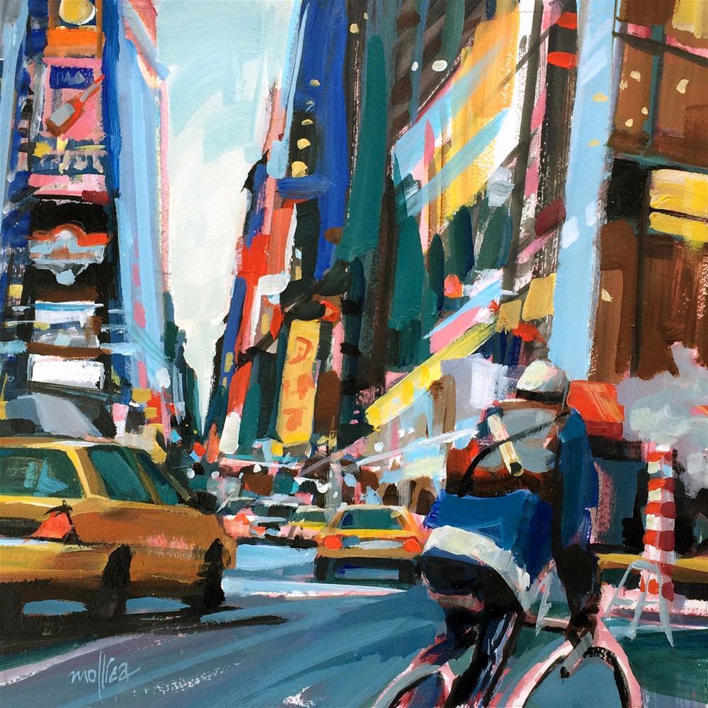 """""""Times Square Messenger"""" original fine art by Patti Mollica"""