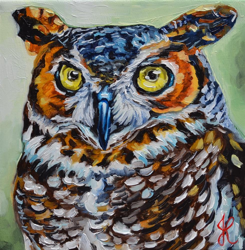 """Owl"" original fine art by Jacinthe Rivard"