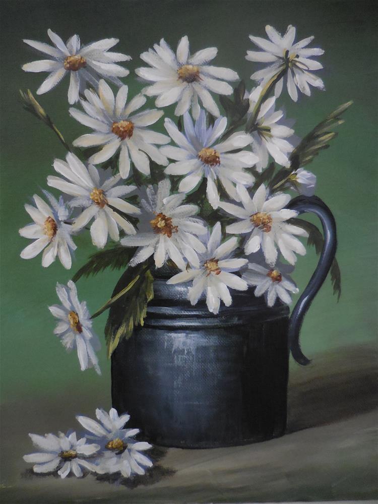 """""""Daisies #3"""" original fine art by Terri Nicholson"""