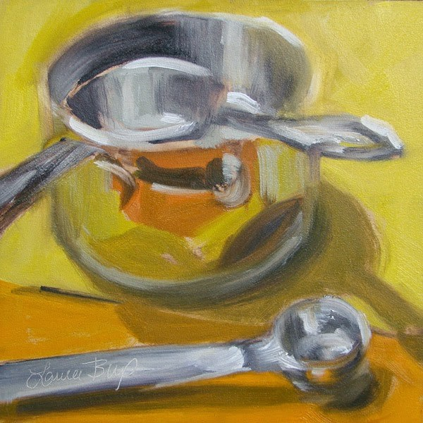 """Kitchen Tools - 318"" original fine art by Laura  Buxo"