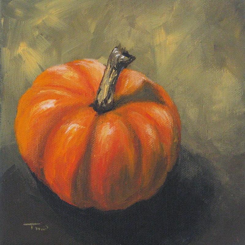 """Pumpkin"" original fine art by Torrie Smiley"