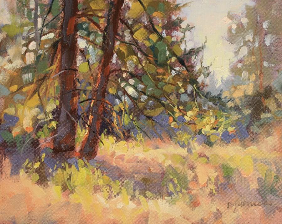 """Ponderosa Morning Dance"" original fine art by Barbara Jaenicke"