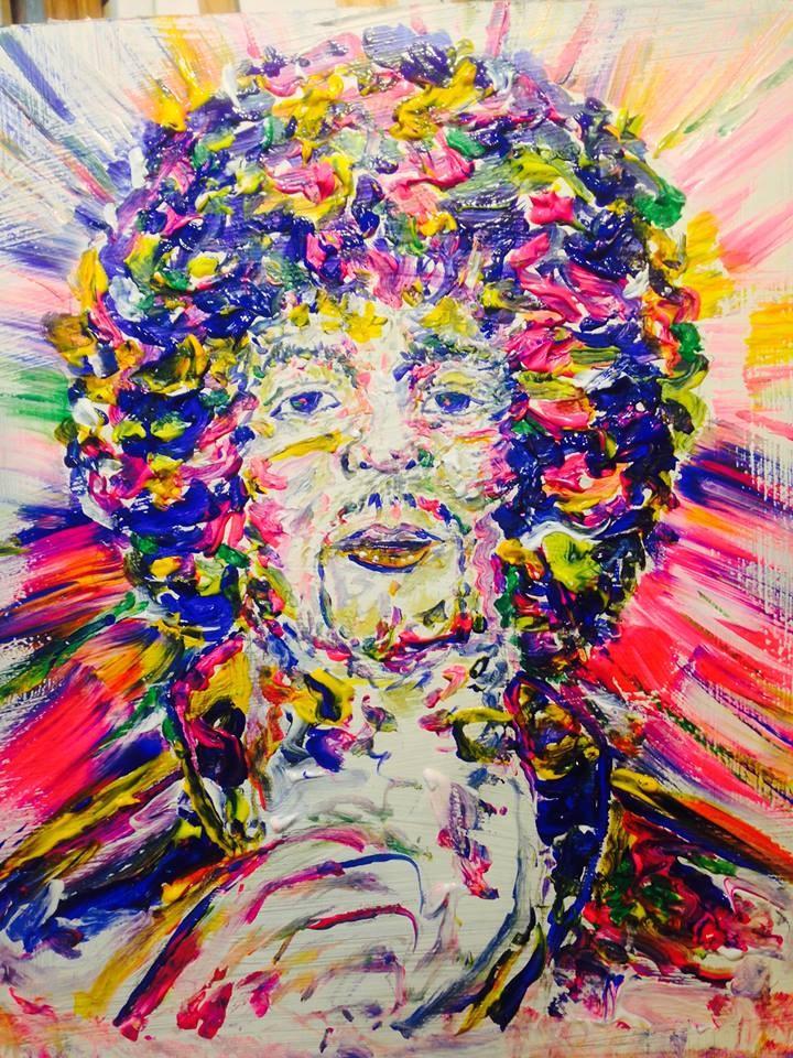 """Jimi "" original fine art by mark convoy"