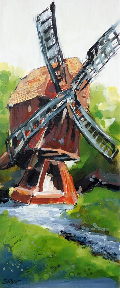 """2921 Hanover Windmill"" original fine art by Dietmar Stiller"