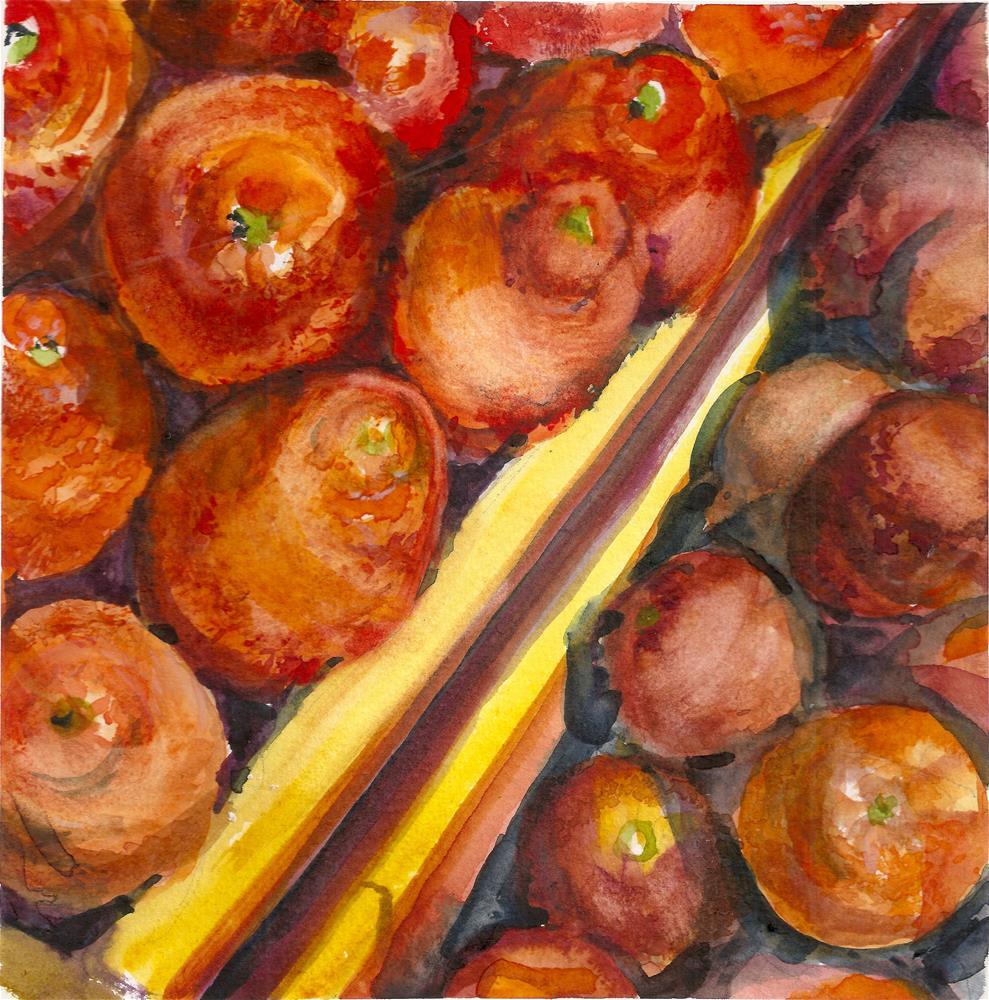 """Minneolas and Blood Oranges"" original fine art by Jean Krueger"