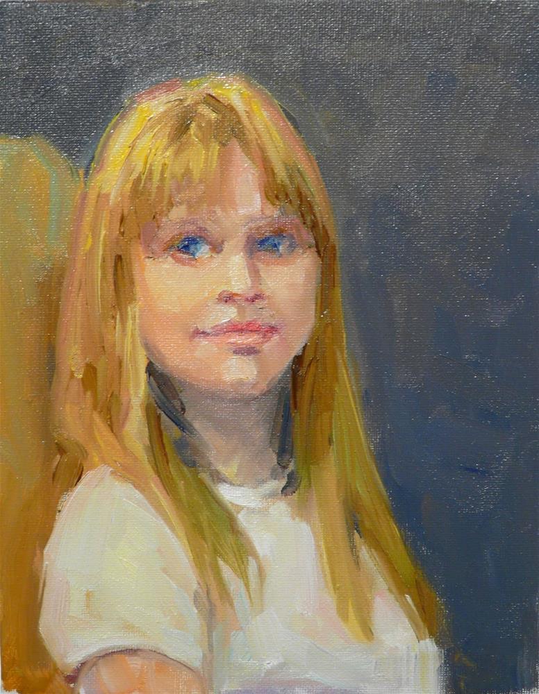"""Amilia,Portrait,oil on canvas,10x8,price$500"" original fine art by Joy Olney"