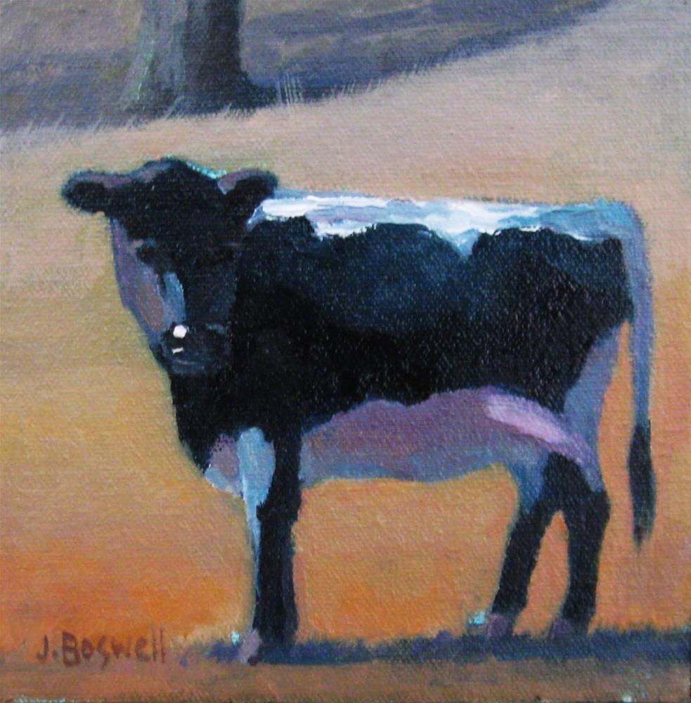 """Holstein #1"" original fine art by Jennifer Boswell"