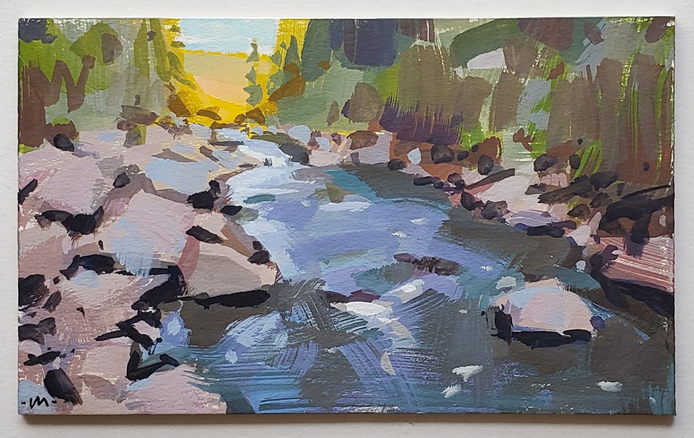 """Colorado Rocky River"" original fine art by Carol Marine"