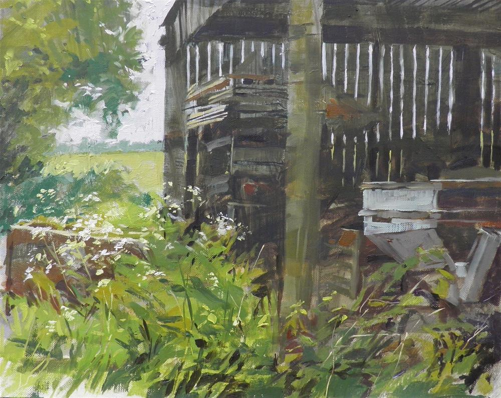 """Barn interior"" original fine art by Haidee-Jo Summers ROI"