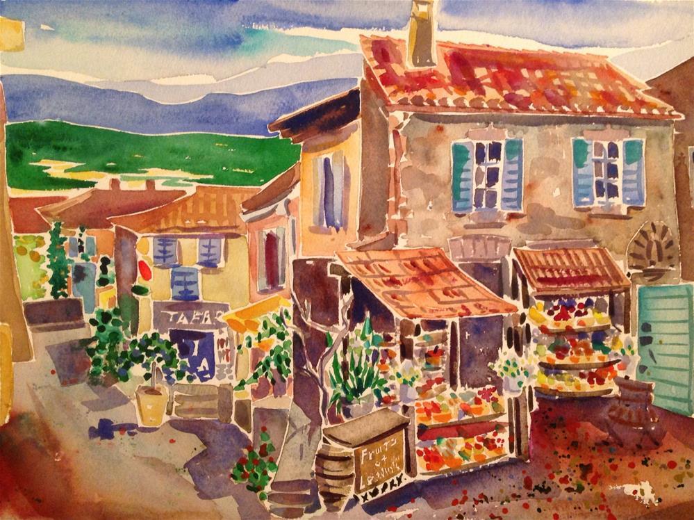 """Fruits et Legumes"" original fine art by Virginia Fergus"