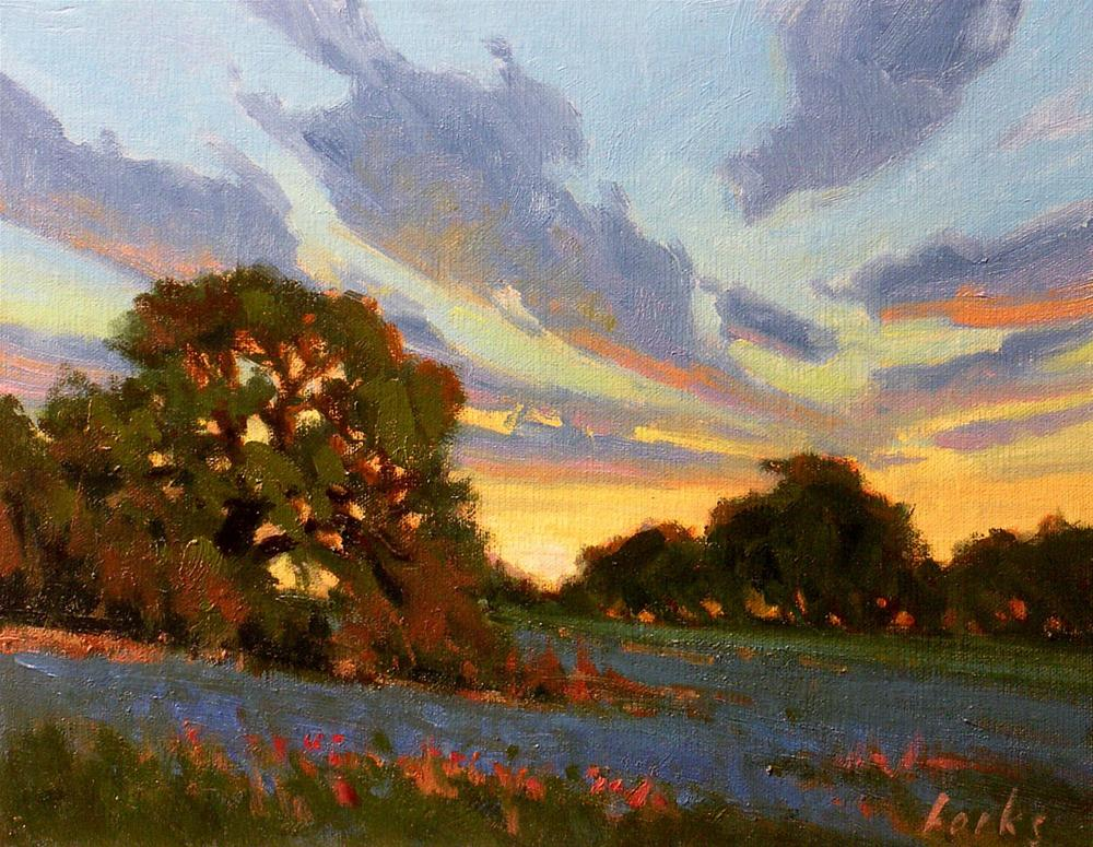 """Sunset"" original fine art by David Forks"