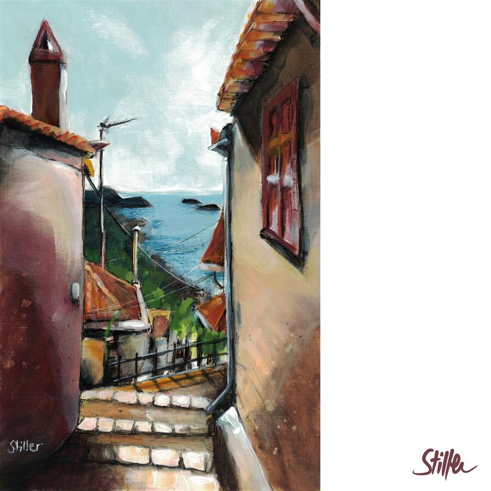 """""""3515 Mediterranean Ocean View """" original fine art by Dietmar Stiller"""