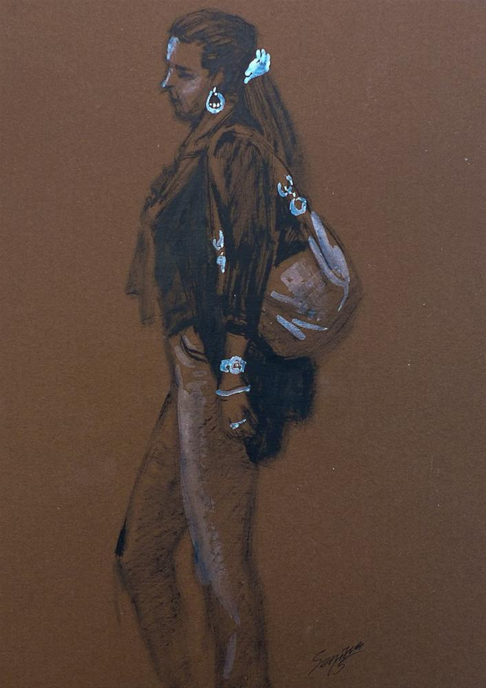 """Untitled #1"" original fine art by Elena Senina"