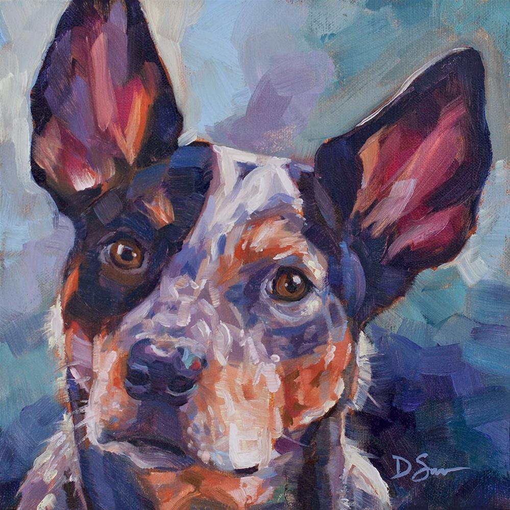 """Tucker"" original fine art by Deborah Savo"