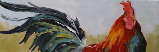 """upper deck"" original fine art by Carol Carmichael"