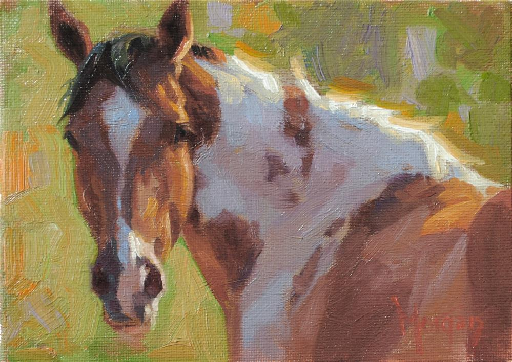 """I Spotted You"" original fine art by Cecile W. Morgan"