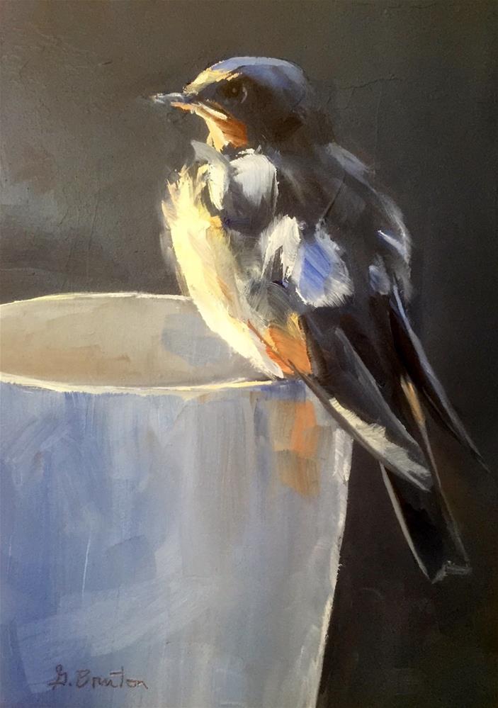 """Fledgling"" original fine art by Gary Bruton"