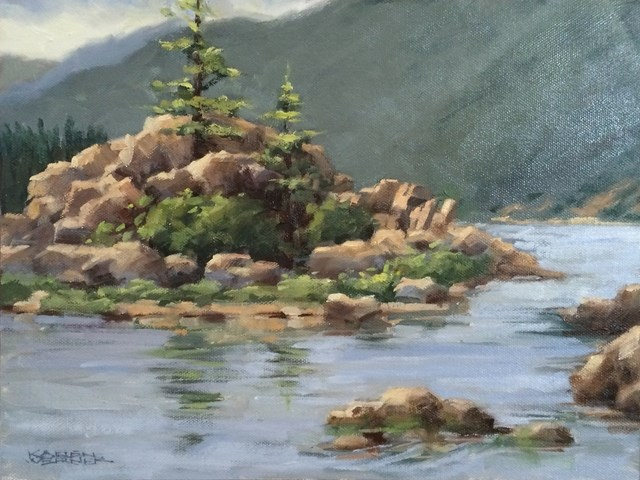 """""""Boulder Bay"""" original fine art by Karen Werner"""