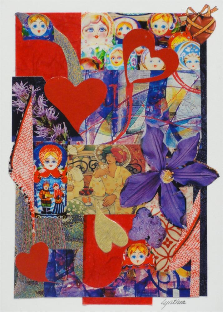 """""""Red Hat Love"""" original fine art by Cynthia Frigon"""