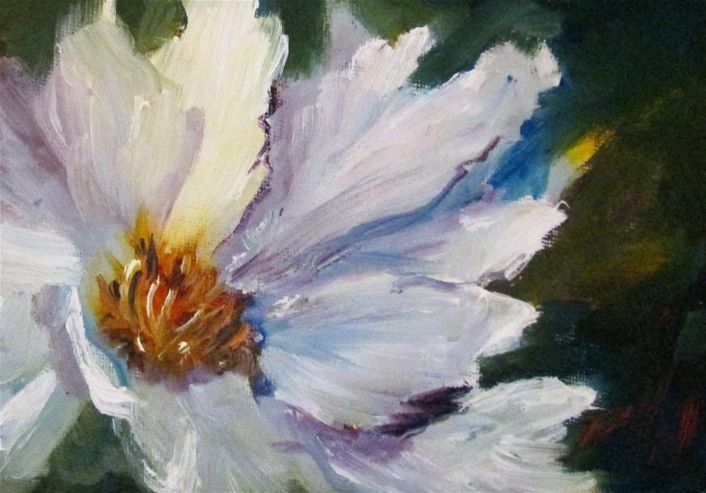 """""""White Flower"""" original fine art by Delilah Smith"""