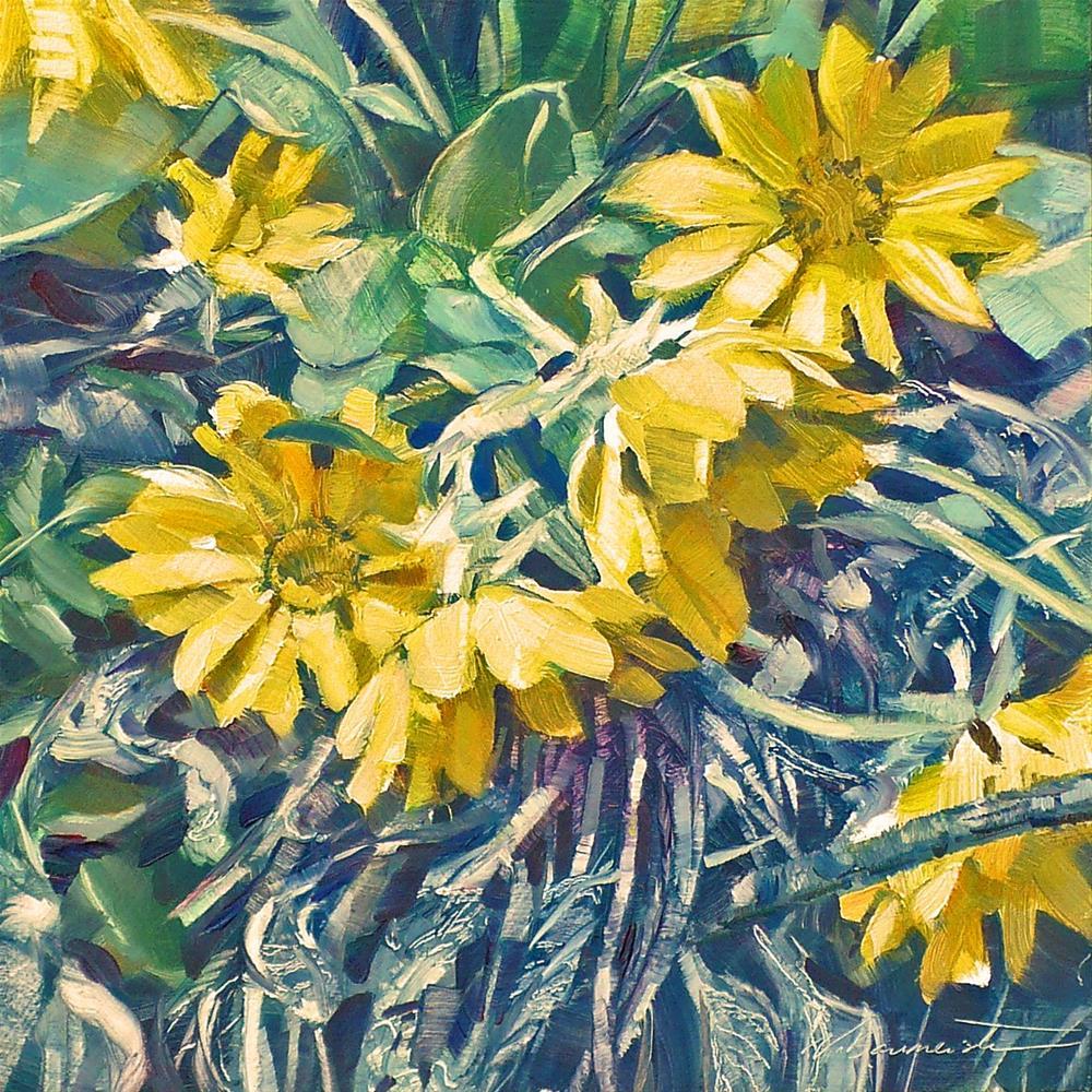 """""""Okanagan Sunflower"""" original fine art by Nicoletta Baumeister"""