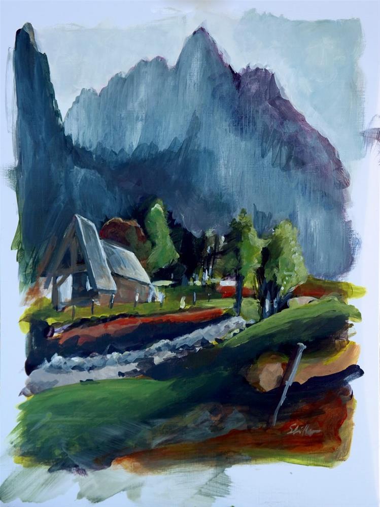 """""""1851 Fish Creek Alp"""" original fine art by Dietmar Stiller"""
