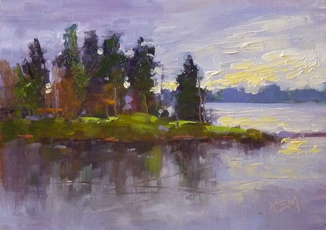 """Art Inspiration from Finland"" original fine art by Karen Margulis"
