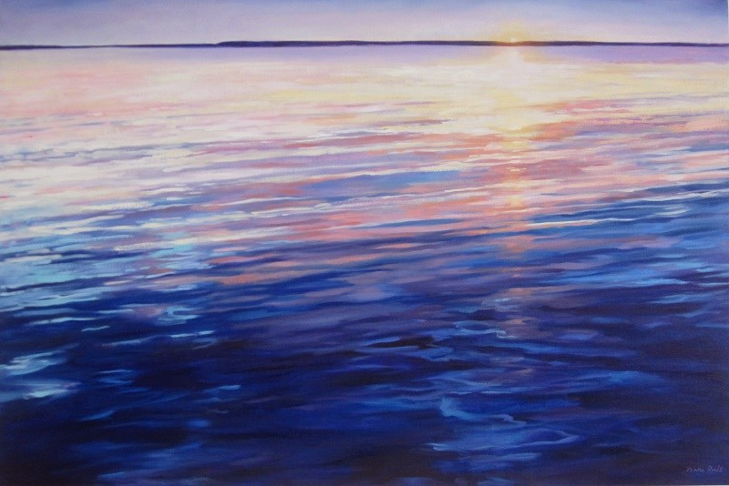"""Twilight"" original fine art by Nicki Ault"