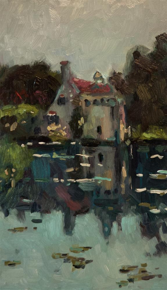 """""""The Lake at Scotty Castle"""" original fine art by Andre Pallat"""