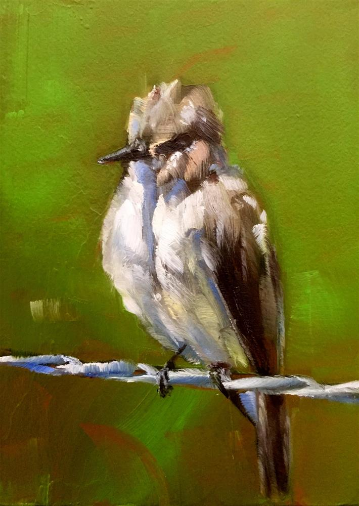 """Pewee"" original fine art by Gary Bruton"