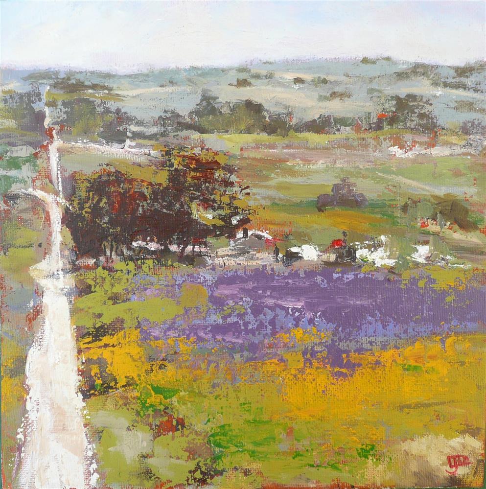 """""""Long Road"""" original fine art by Leanne Owen"""