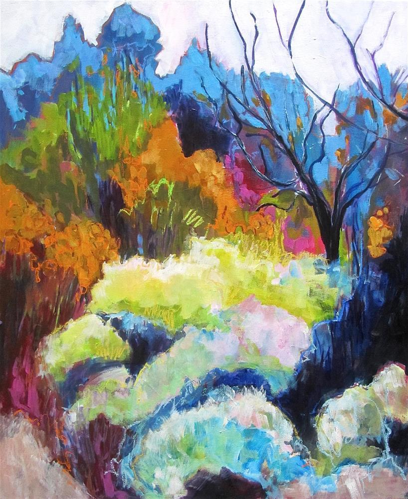 """Near Croagnes in the Luberon"" original fine art by Patricia MacDonald"