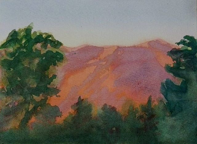 """Appalachian Sunset"" original fine art by Maria Peagler"