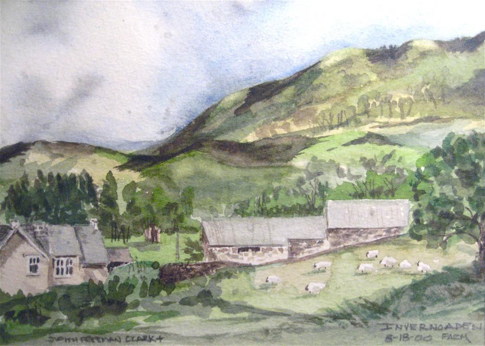"""Near Loch Fyne, Scotland"" original fine art by Judith Freeman Clark"