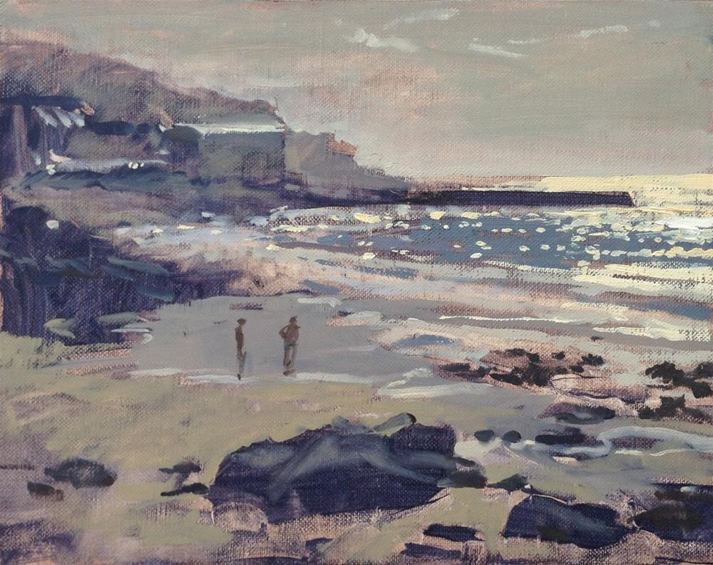 """""""Sennen cove and new website"""" original fine art by Haidee-Jo Summers ROI"""