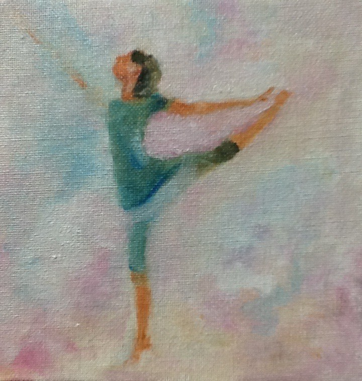 """Dancing in the Clouds"" original fine art by Peggy Schumm"