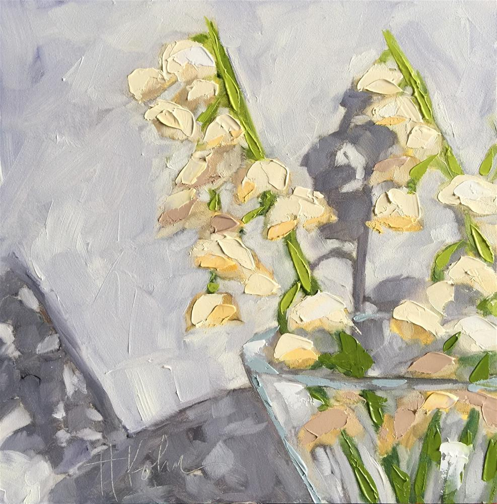 """Lily of the Valley"" original fine art by Hallie Kohn"