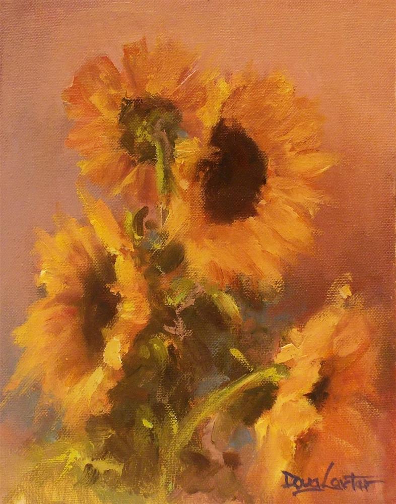 """"""" Flower of the Sun """" original fine art by Doug Carter"""