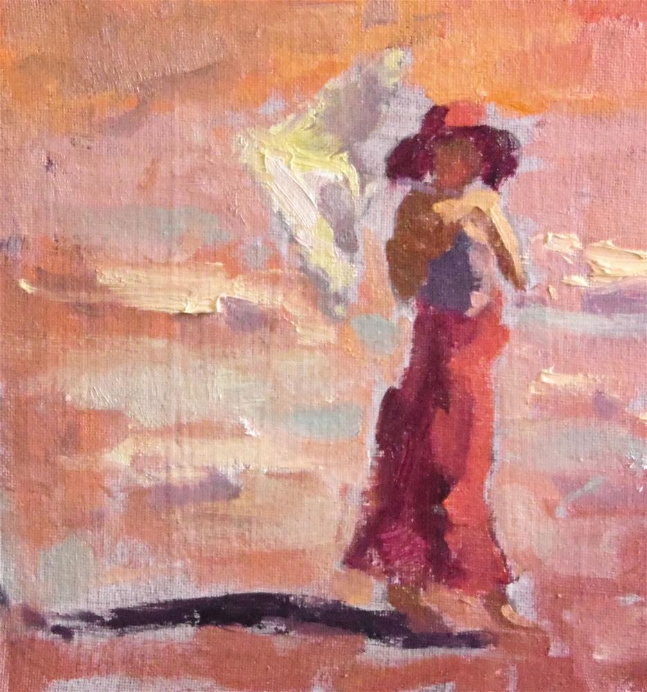 """""""Sunset Walk """" original fine art by Michael Clark"""